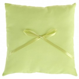 Coussin alliances coton vert anis