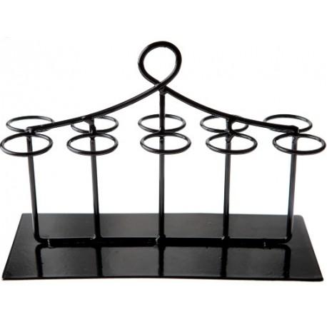 Présentoir Eprouvettes à dragées noir rectangulaire 20 cm