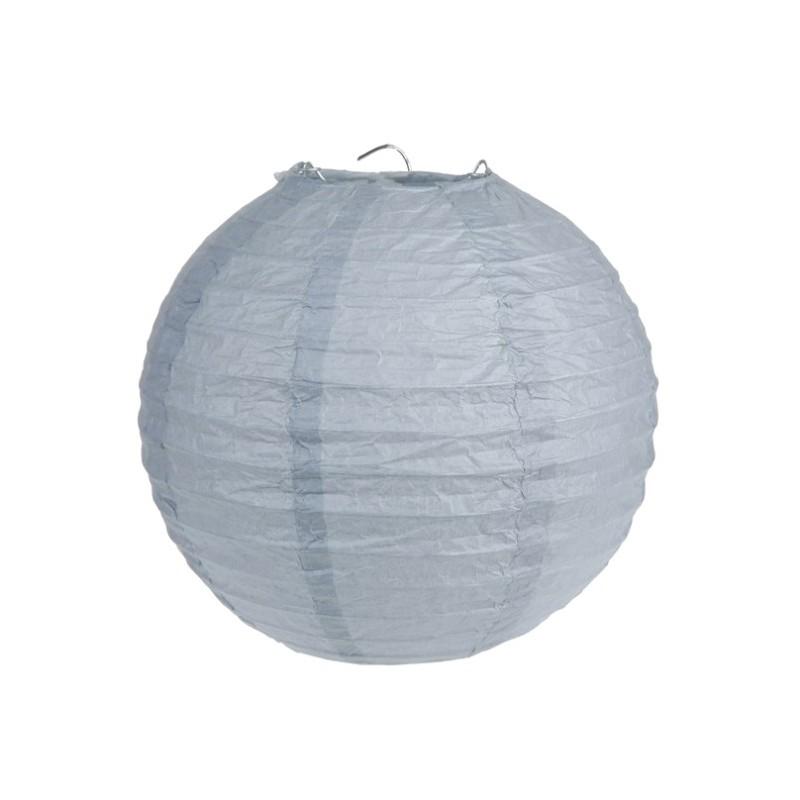 Lanterne boule chinoise papier gris 30 cm les 2 - Boule chinoise papier ...