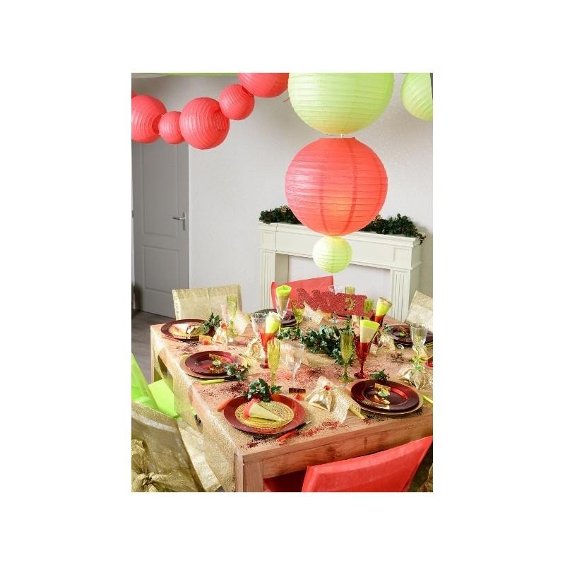 lanterne boule chinoise papier orange 30 cm les 2. Black Bedroom Furniture Sets. Home Design Ideas