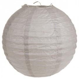 Lanterne Boule Chinoise Papier Taupe 50 cm