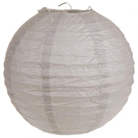 lanterne boule chinoise papier taupe 50 cm. Black Bedroom Furniture Sets. Home Design Ideas
