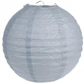 Lanterne Boule Chinoise Papier Gris 50 cm