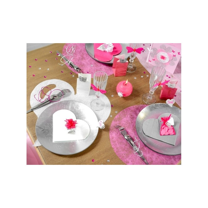 Set de table coeur parme intiss les 50 set de table - Set de table intisse ...