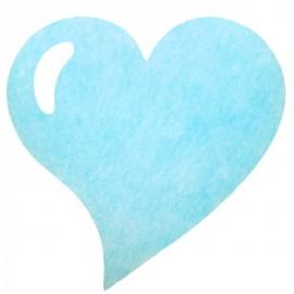 Sets de table coeur bleu ciel intissé les 50
