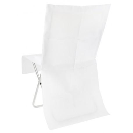 Housse de chaise blanche intissé opaque les 4 - Déco de chaise