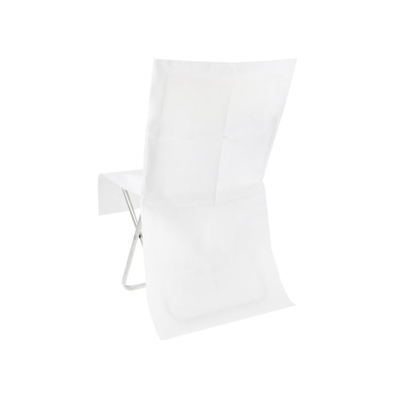 Housse de chaise blanche intiss opaque les 4 achat for Housse de chaise plastique