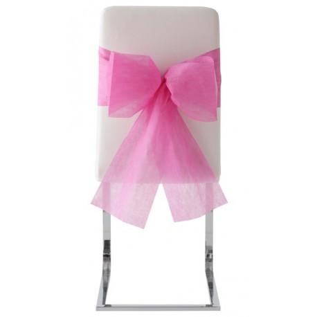 Noeuds de chaise automatiques intissé Fushia les 10