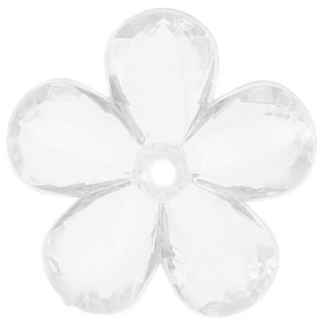 Perles Fleurs Transparentes 2.1 cm les 10