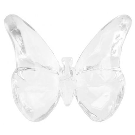 Perle papillon transparent 2 cm les 10