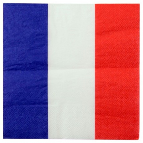 Serviette de table France drapeau Français les 20