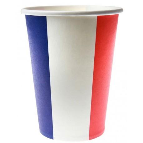 Gobelet France drapeau Français carton les 10