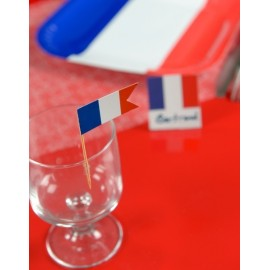 Piques Cocktail Drapeau Français les 10