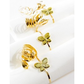 Perles Papillon Métallisé Brillant Festif 3 cm Les 12