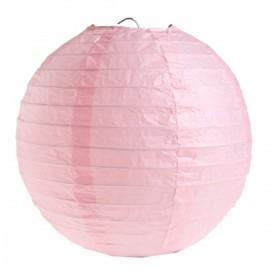 Lanterne boule chinoise papier rose 30 cm les 2