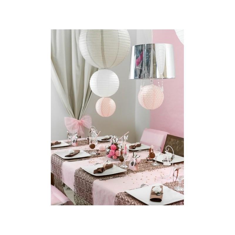 Lanterne boule chinoise papier rose 50 cm - Lanterne chinoise papier ...