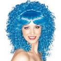 Perruque Bleue Bouclée de luxe Femme