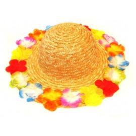 Chapeau Hawaï Fleurs