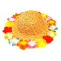Chapeau Hawai Fleurs en Paille