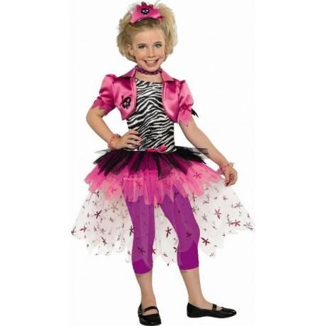 Déguisement Pink Punk Princesse enfant