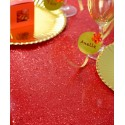 Chemin de table tulle pailleté rouge 5 M