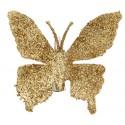 Papillons Or Pailletés sur Pince les 4