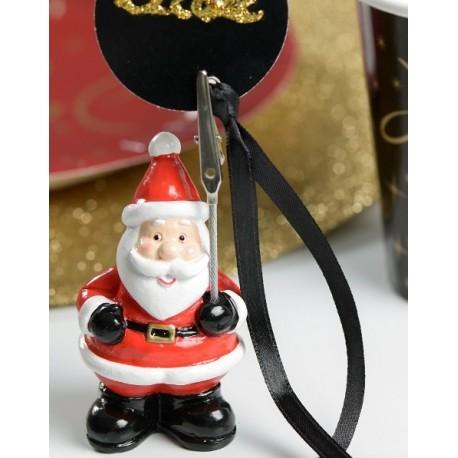 Marque place Père Noël 8 cm les 2