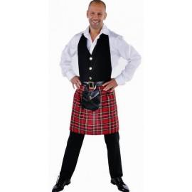 Déguisement tablier écossais homme luxe