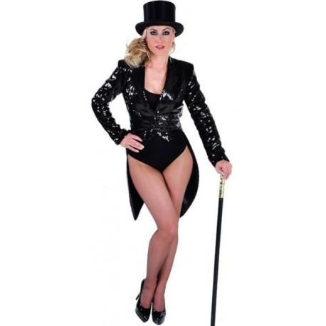 Queue de Pie Cabaret Noire Paillettes Sequin Femme Luxe