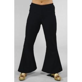 Déguisement hippie pantalon noir femme deluxe