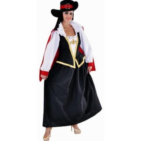 Costume Déguisement mousquetaire femme deluxe