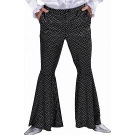 Déguisement Pantalon Disco Noir Paillettes Homme Deluxe