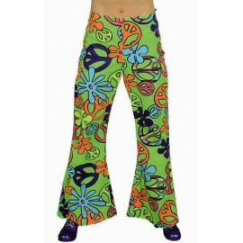 Déguisement hippie pantalon Magic Peace femme deluxe