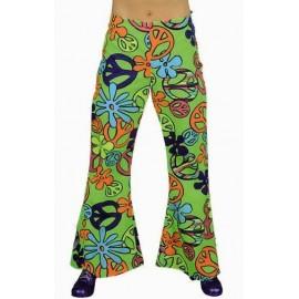Déguisement hippie pantalon Magic Peace femme deluxe