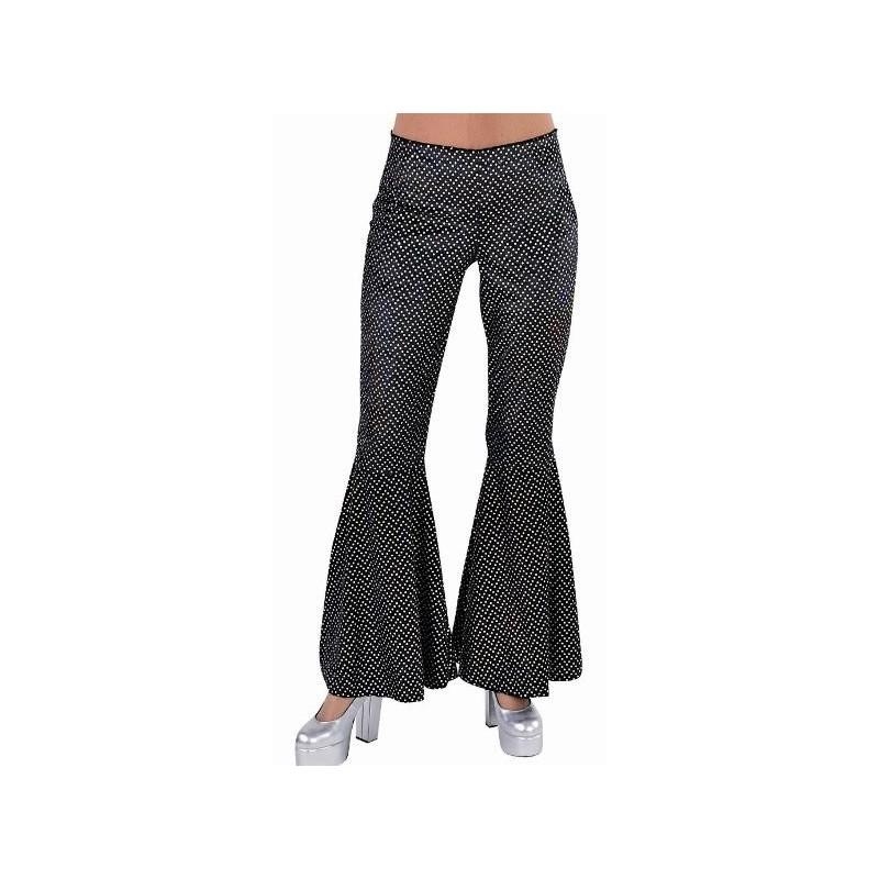 d guisement disco pantalon noir paillettes femme luxe. Black Bedroom Furniture Sets. Home Design Ideas