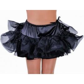 Costume Jupon Court Noir à Volants en Tulle Luxe Femme