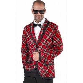 Déguisement 60's Veste Rock'n Roll écossaise homme luxe