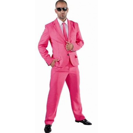 Costume Déguisement Magic rose deluxe homme