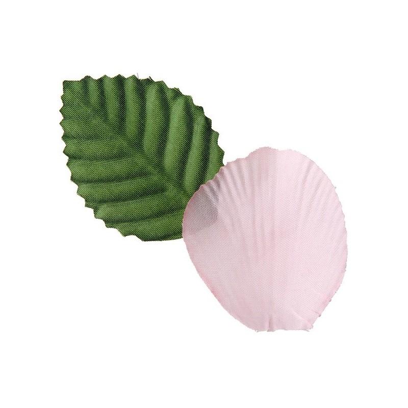 p tale rose en tissu avec feuilles les 100 achat p tales de rose. Black Bedroom Furniture Sets. Home Design Ideas