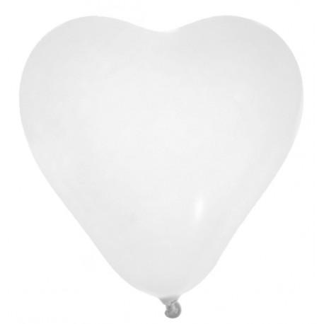 Ballon Coeur Blanc 25 cm les 8 Ballon Forme Coeur Latex