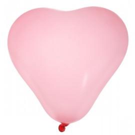 Ballons coeur rose 25 cm les 8