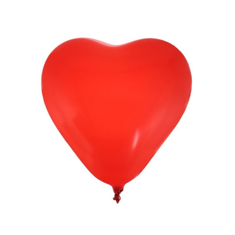 Ballons coeur rouge 25 cm les 8 for Deco en forme de coeur