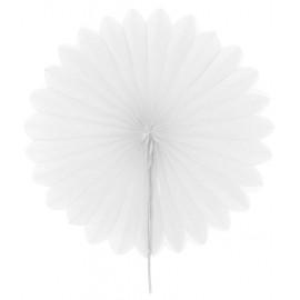 Eventails papier blanc 20 cm les 2