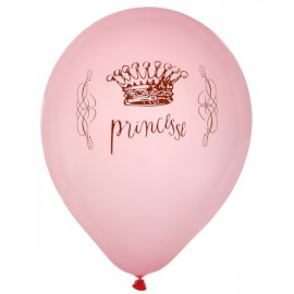 Ballons Princesse rose 23 cm les 8