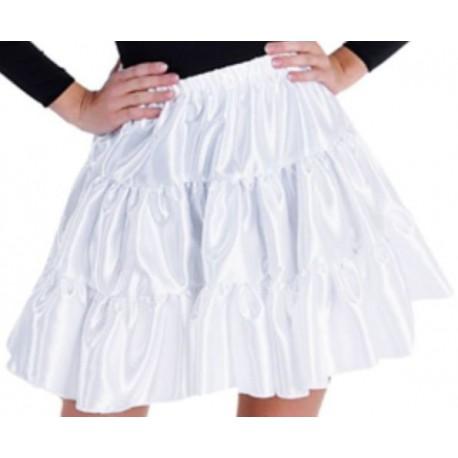 Déguisement jupe blanche à volants satin fille