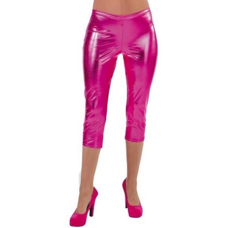 Déguisement Legging court fuchsia pink spandex Femme Luxe