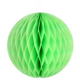 Boule papier alvéolé vert 20 cm les 2