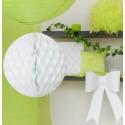 Boules papier alvéolé blanc 20 cm les 2
