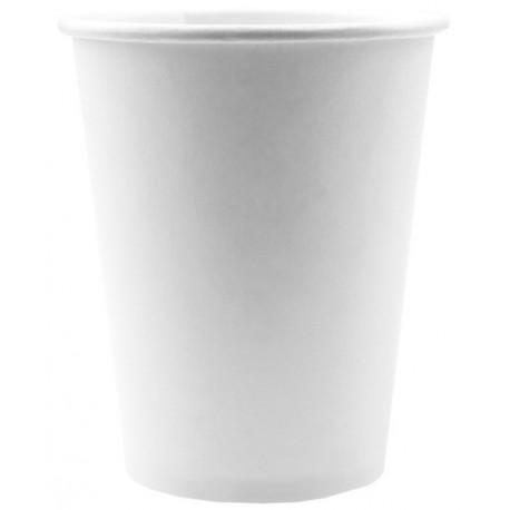 Gobelet carton Blanc uni les 10 Gobelet Blanc jetable
