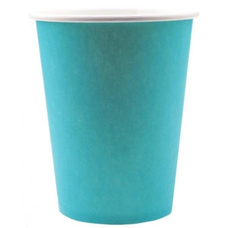 Gobelet carton Turquoise uni les 10 Gobelet jetable